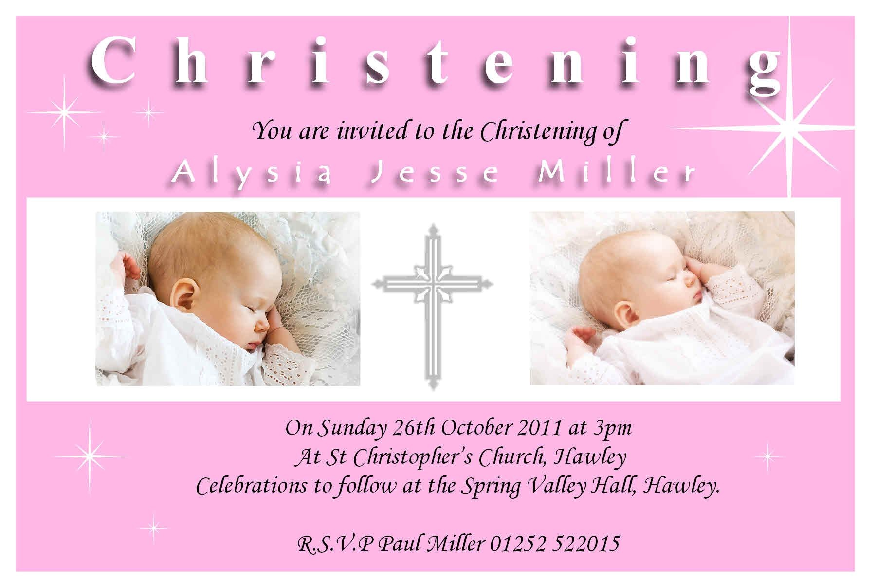baptism invitation template psd 2