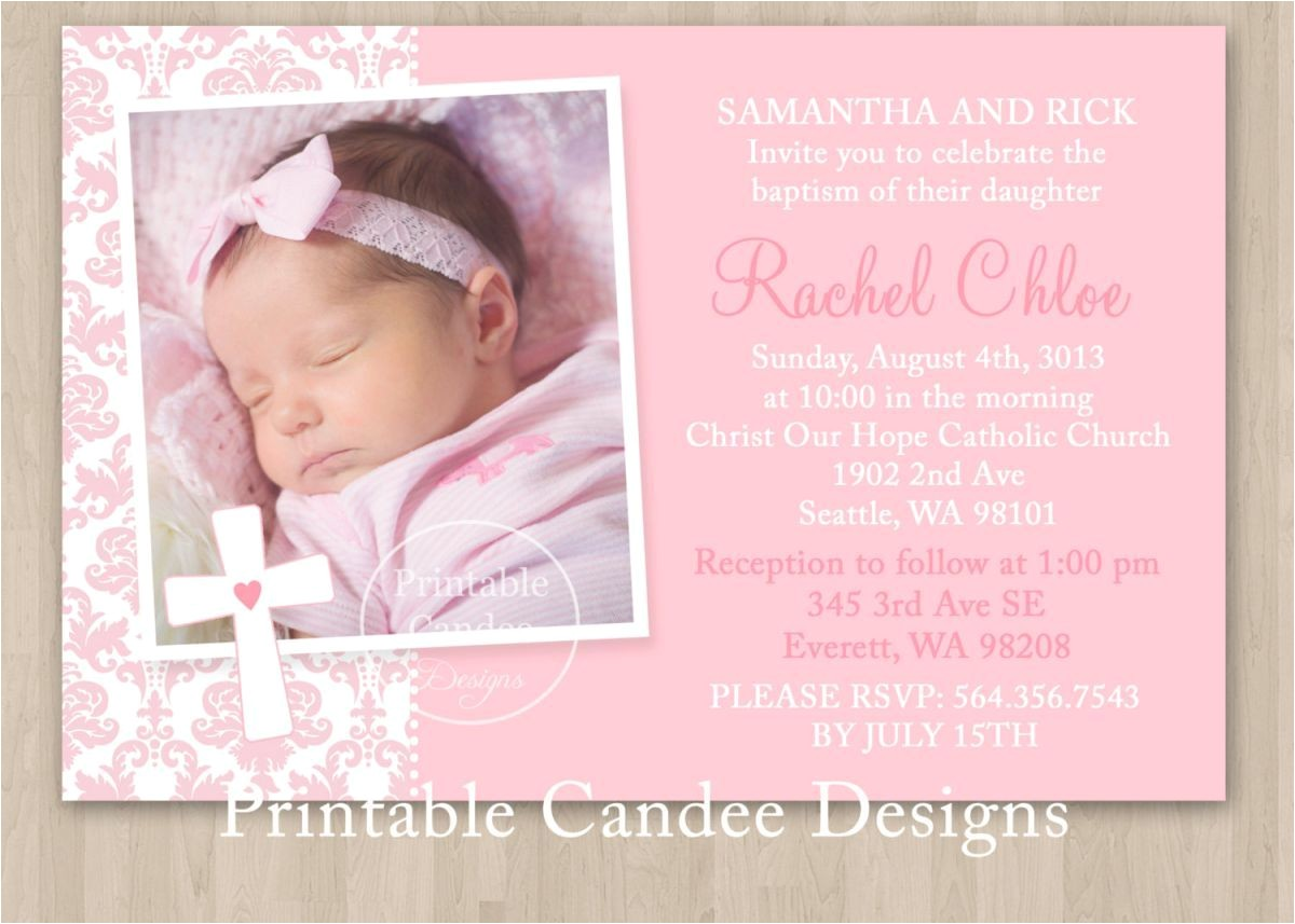 Baptism Invitations Templates Free Baby Girl Baptism Invitations