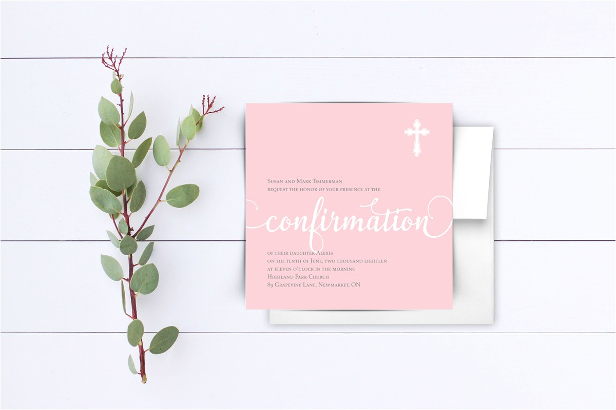 simple confirmation invitation