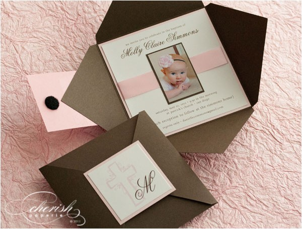 custom baptism invitations ideas