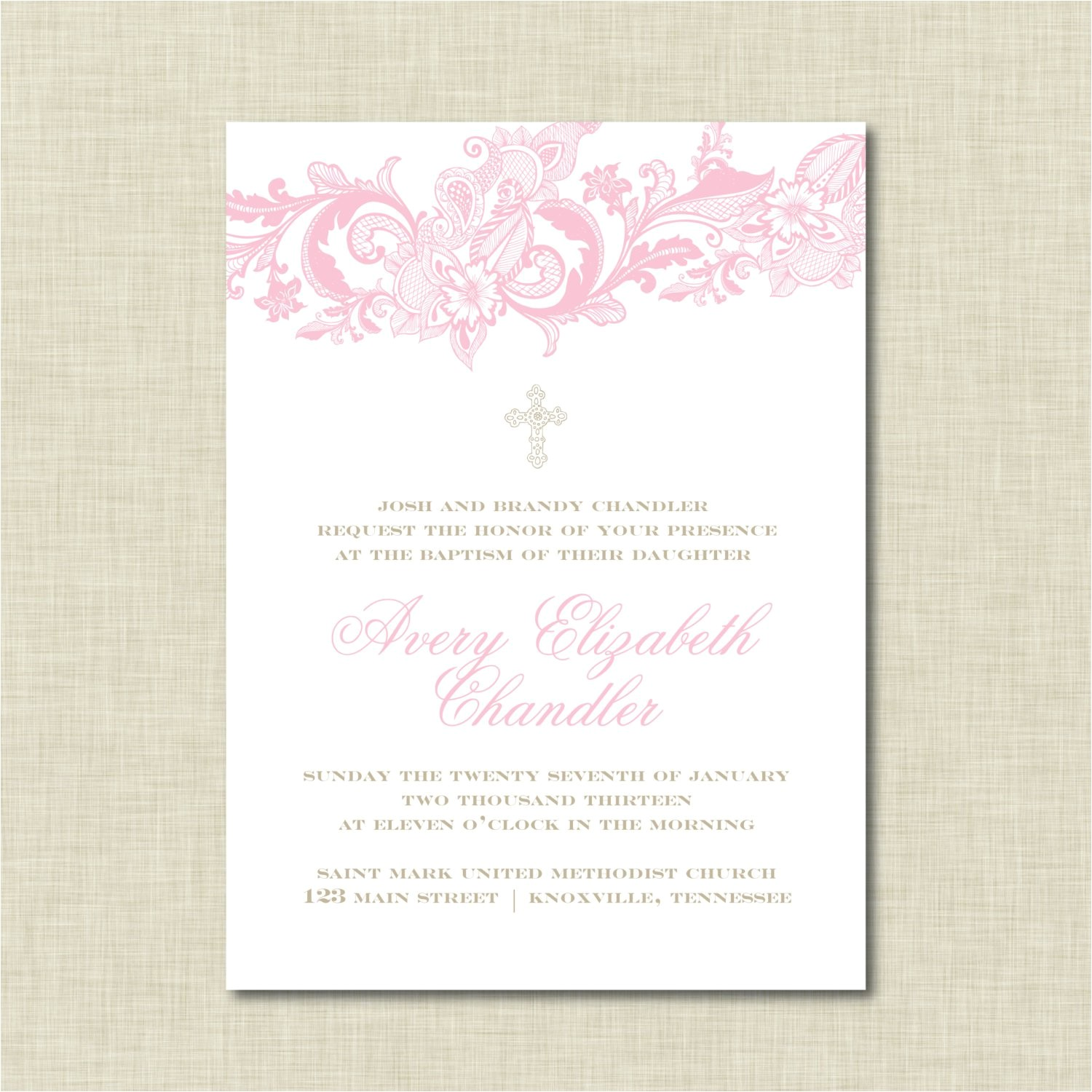 baptism invitation wording godparents