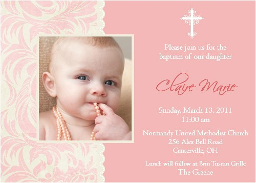 wording sample ideas for baptism invitations b