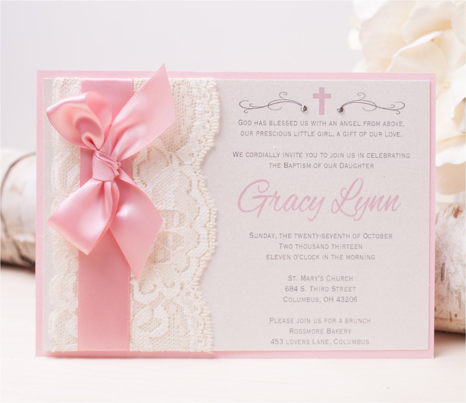 20 off gracy lace invitation pink