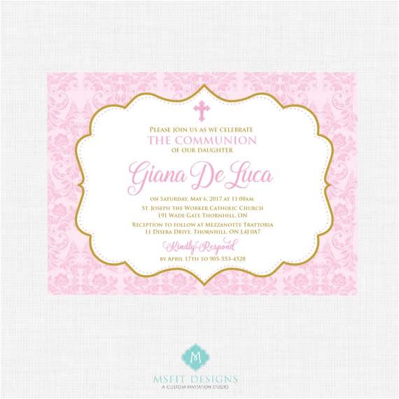 printable baptism invitation girl