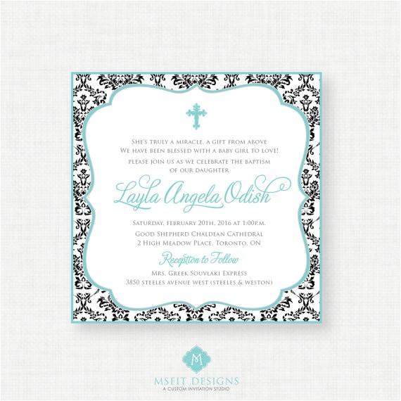 printable baptism invitation girls