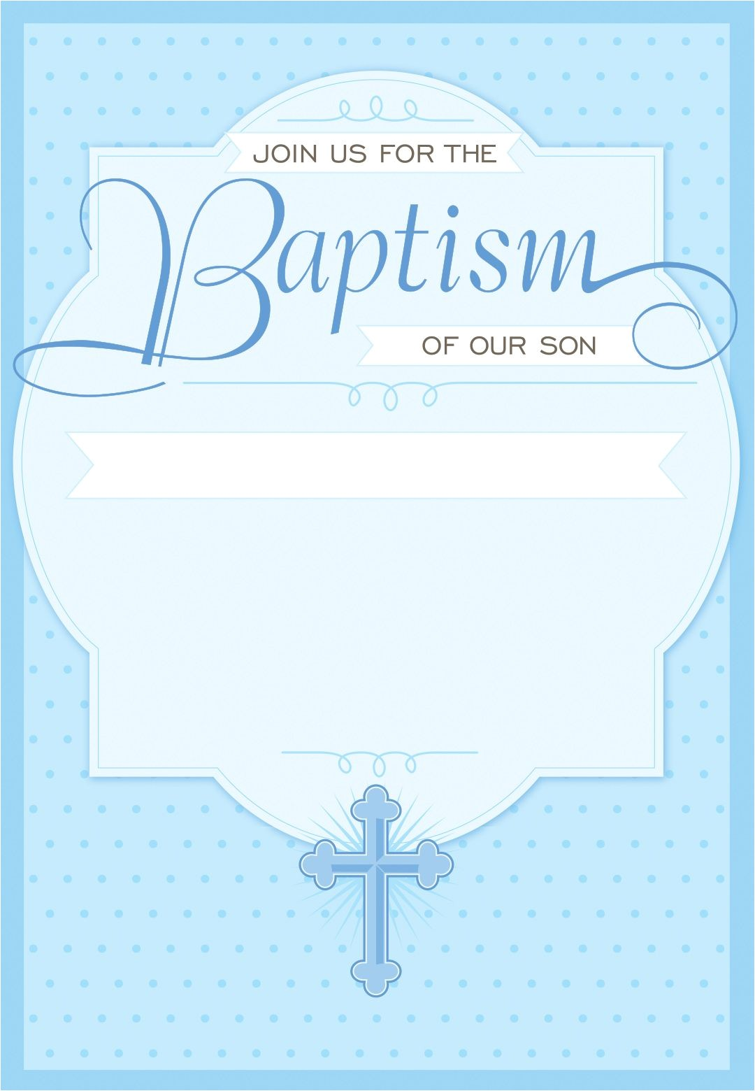 Baptism Invites Free Dotted Blue Free Printable Baptism & Christening