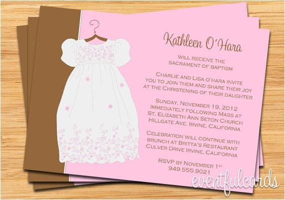 girls baptism christening invitation fully customizable