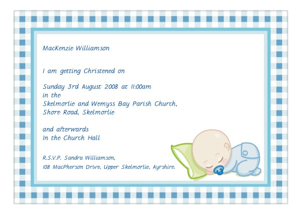 baptism christening invite wording