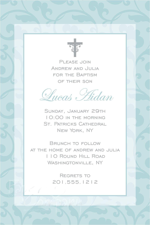catholic baptism invitations wording