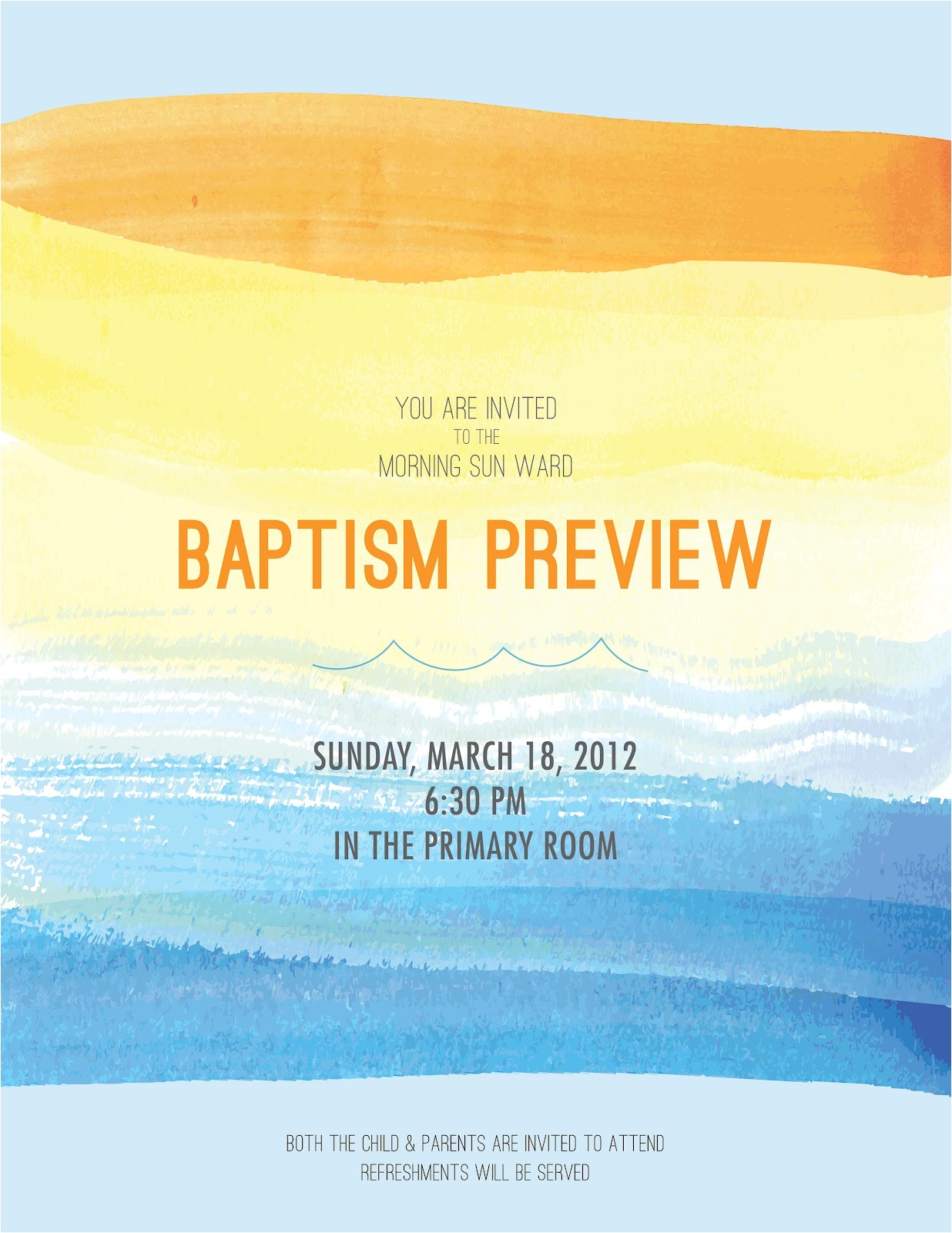 baptism preview invitation