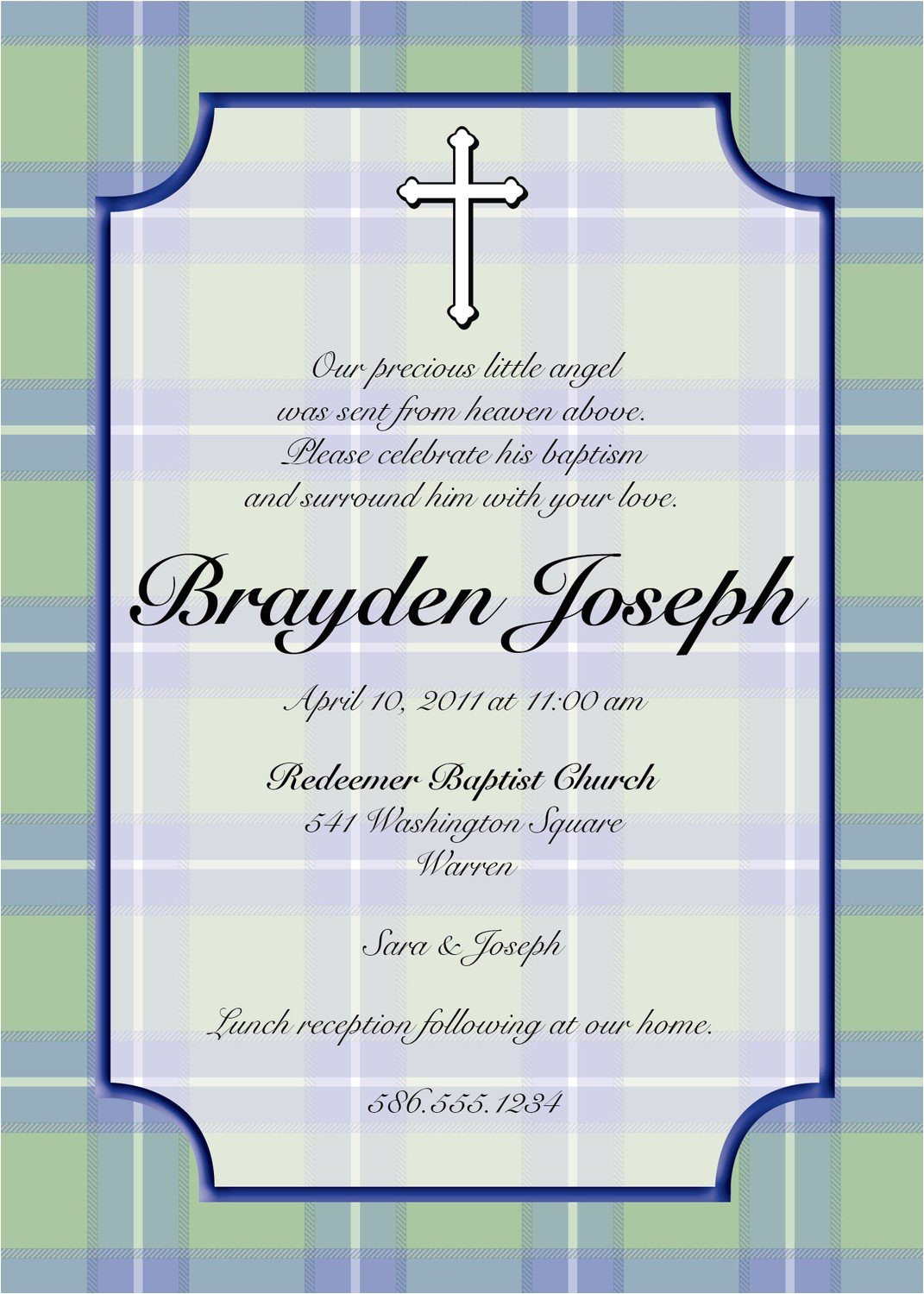 baptism invitation wording bible verses