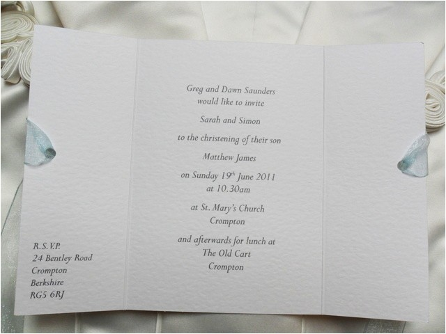 gatefold christening invitations