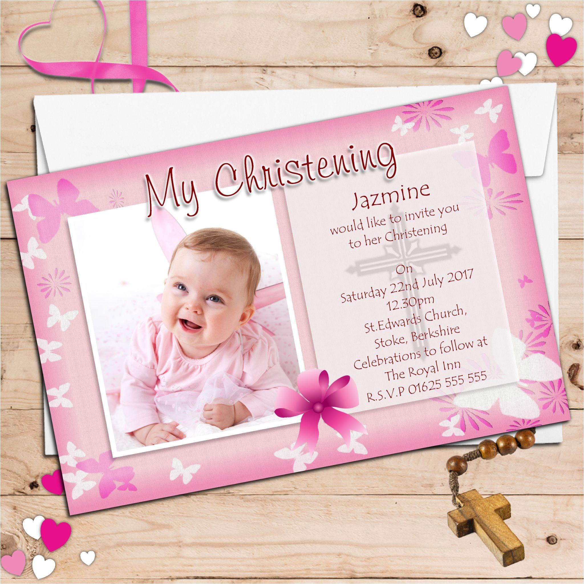baptism invitation cards