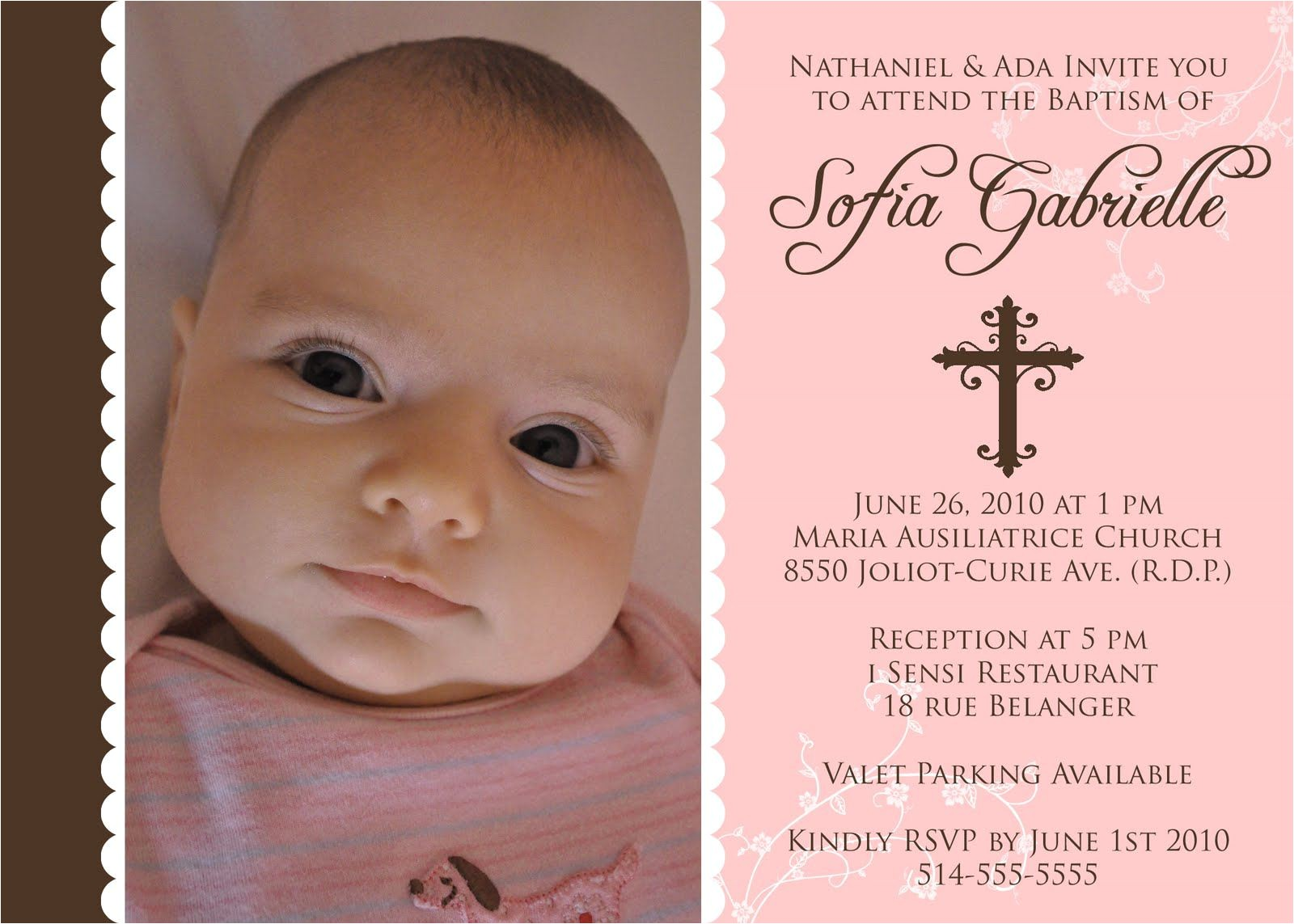 baptism invitation template for baby girl free