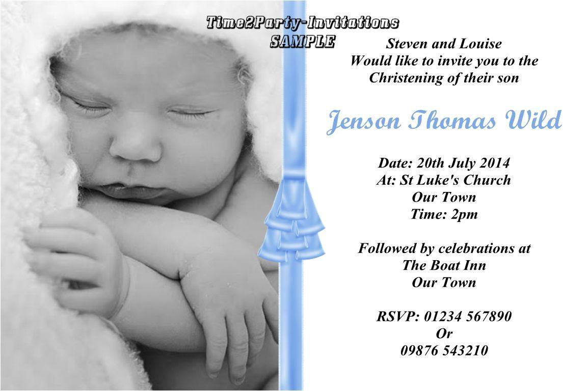 christening invitation baby girl