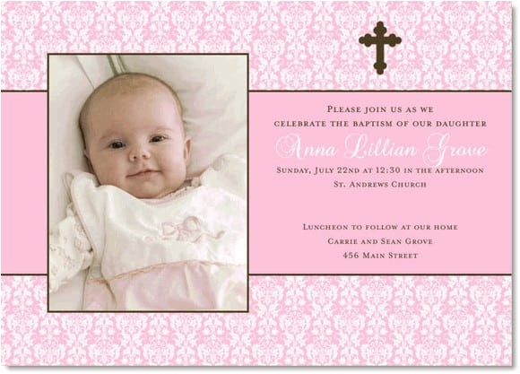 baptismal invitation template for girls