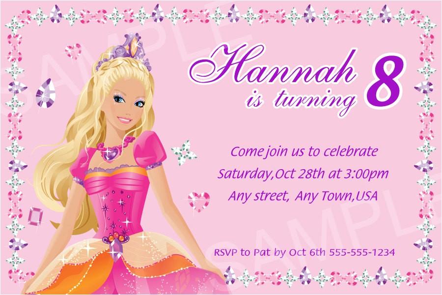 barbie invitation printable barbie