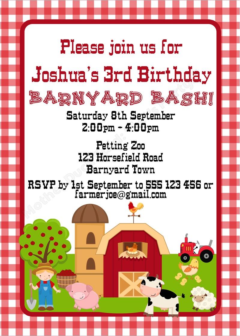 barnyard birthday party farm birthday