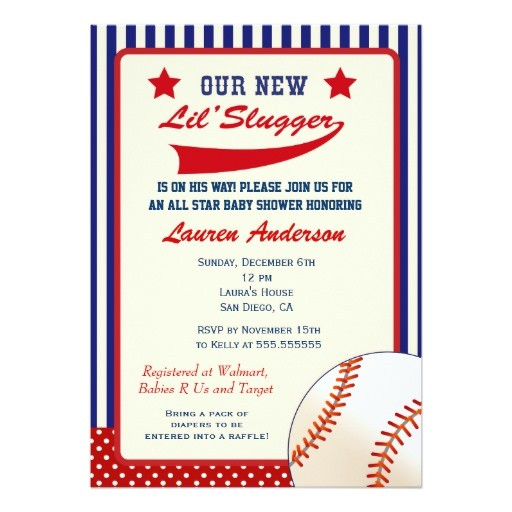 Baseball Invitations for Baby Shower Vintage Baseball Baby Shower Invitation