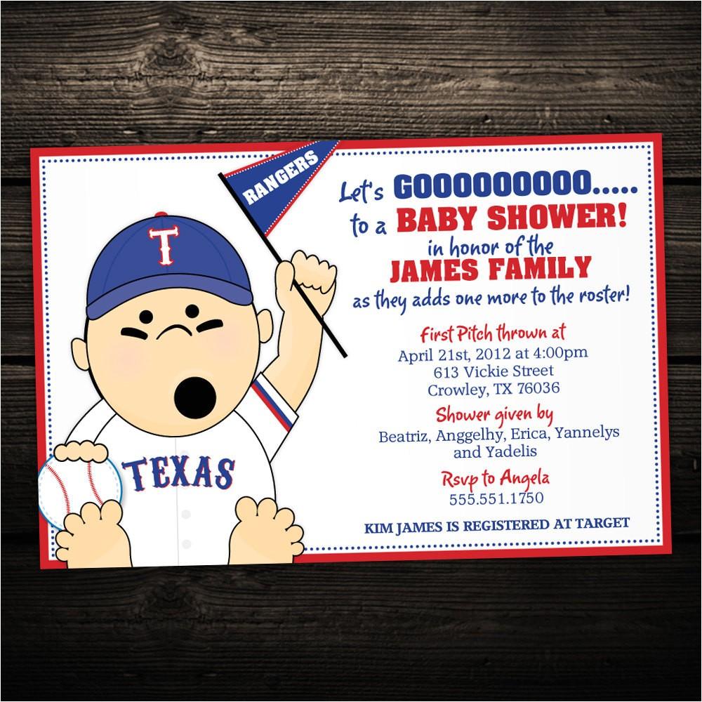 baseball baby shower invitations sports
