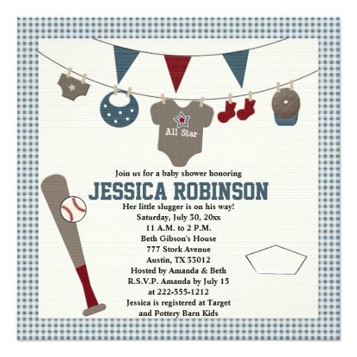Baseball themed Baby Shower Invites Baseball themed Baby Shower Invitations