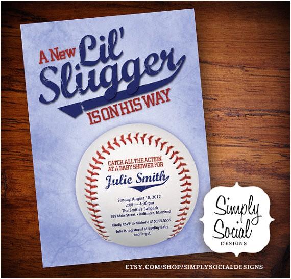 little slugger baseball theme baby