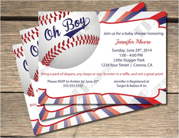 oh boy baseball themed baby shower