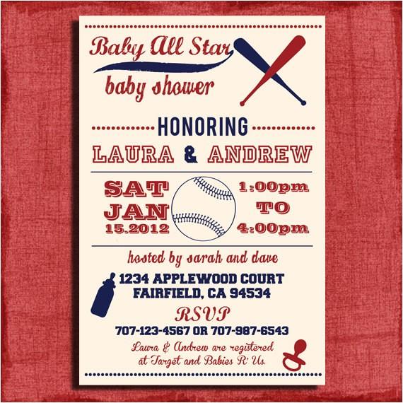 printable baby shower baseball themed 4x6