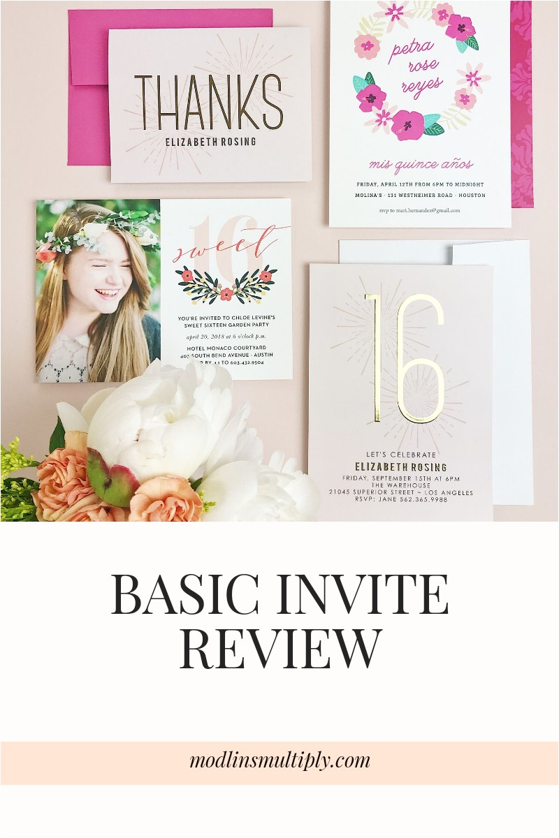 basic invite review customize party invitations