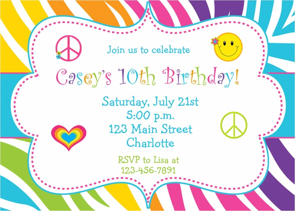girl birthday invitations ideas