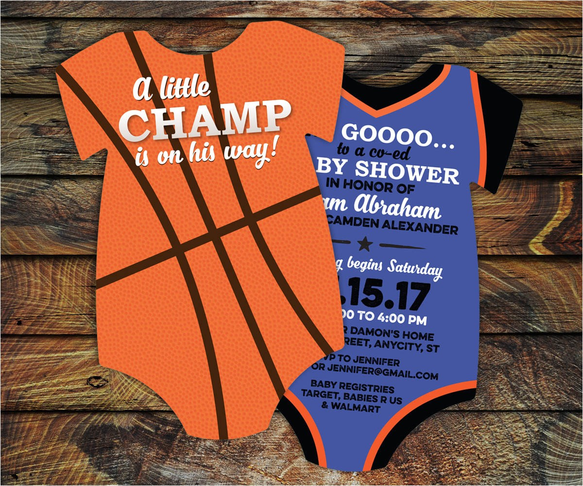 10 basketball baby shower invitations