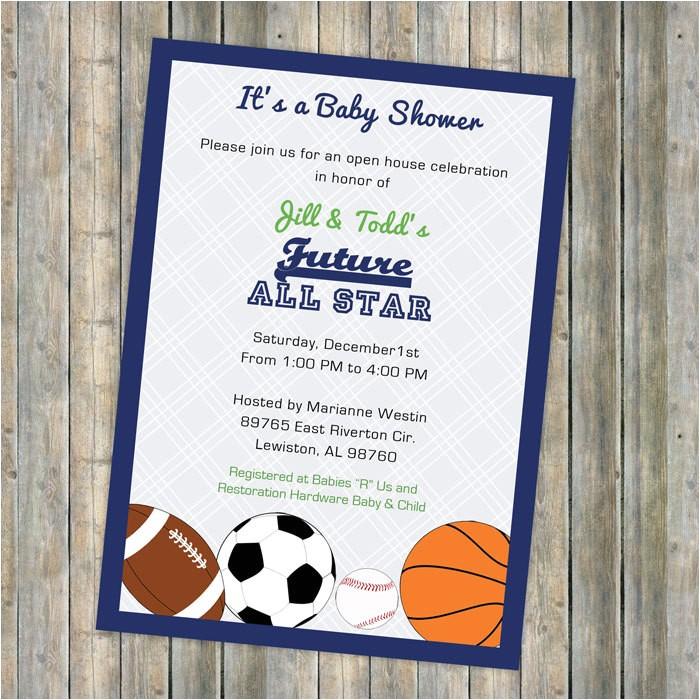 baby boy shower invitations all star