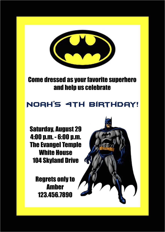 batman birthday invitations templates ideas