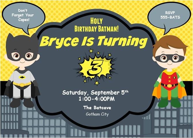 holy birthday batman invitations