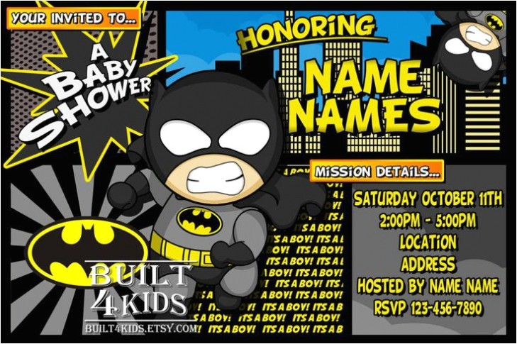 batman baby shower invitations in support of invitations your baby shower invitation templates with nice looking ornaments 8