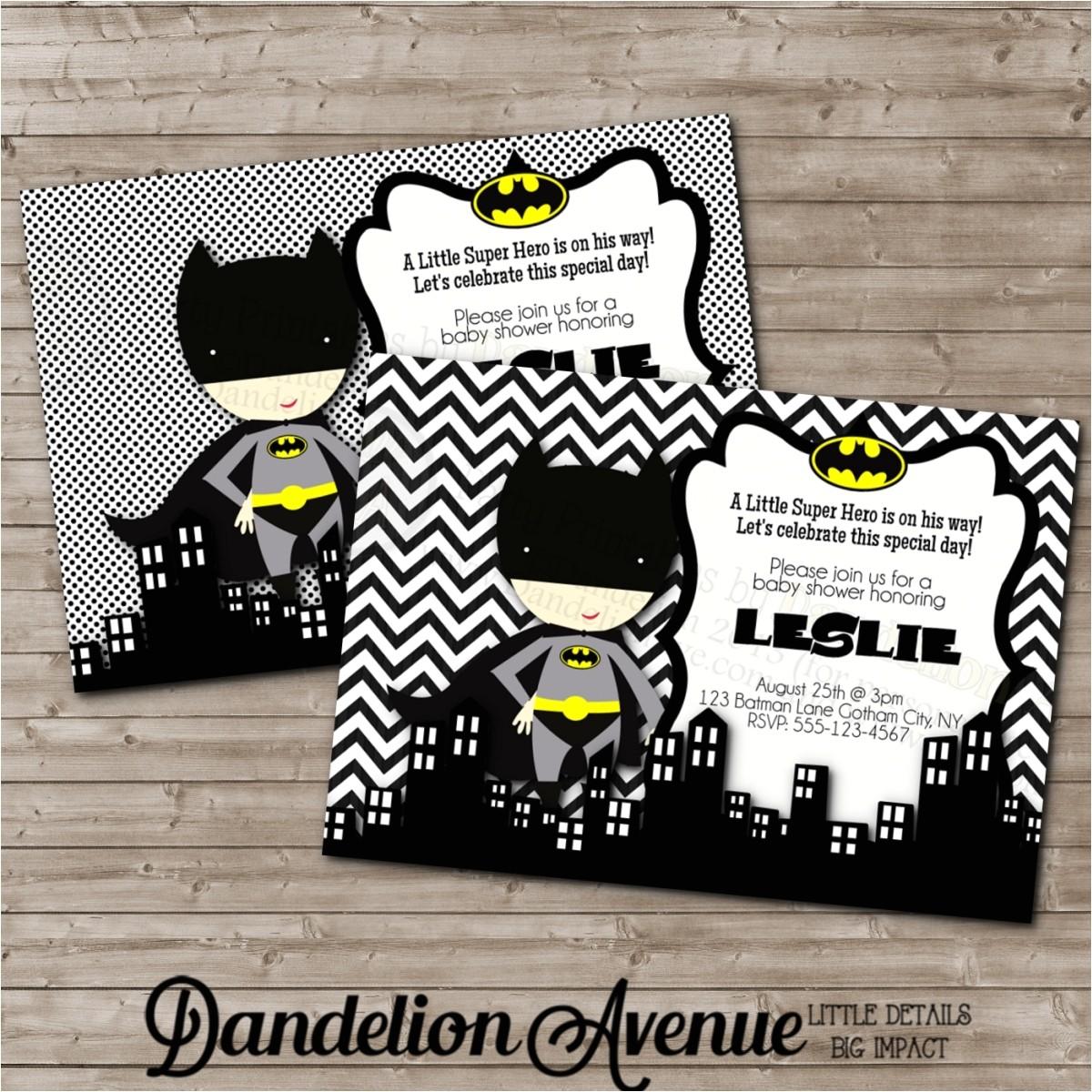 superhero baby shower invitations