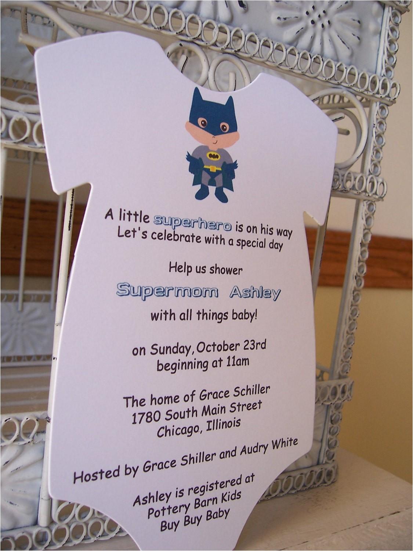 batman baby shower invitation custom