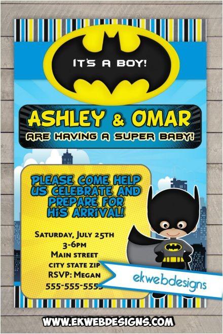 batman baby shower invitations custom ic book baby shower invites