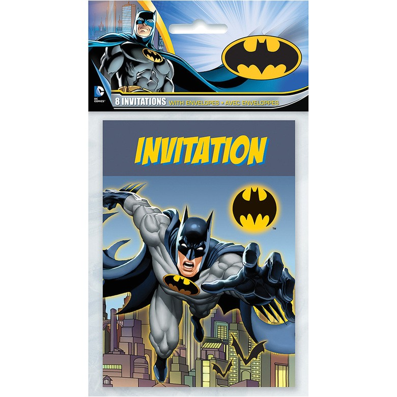 batman invitations 8 count