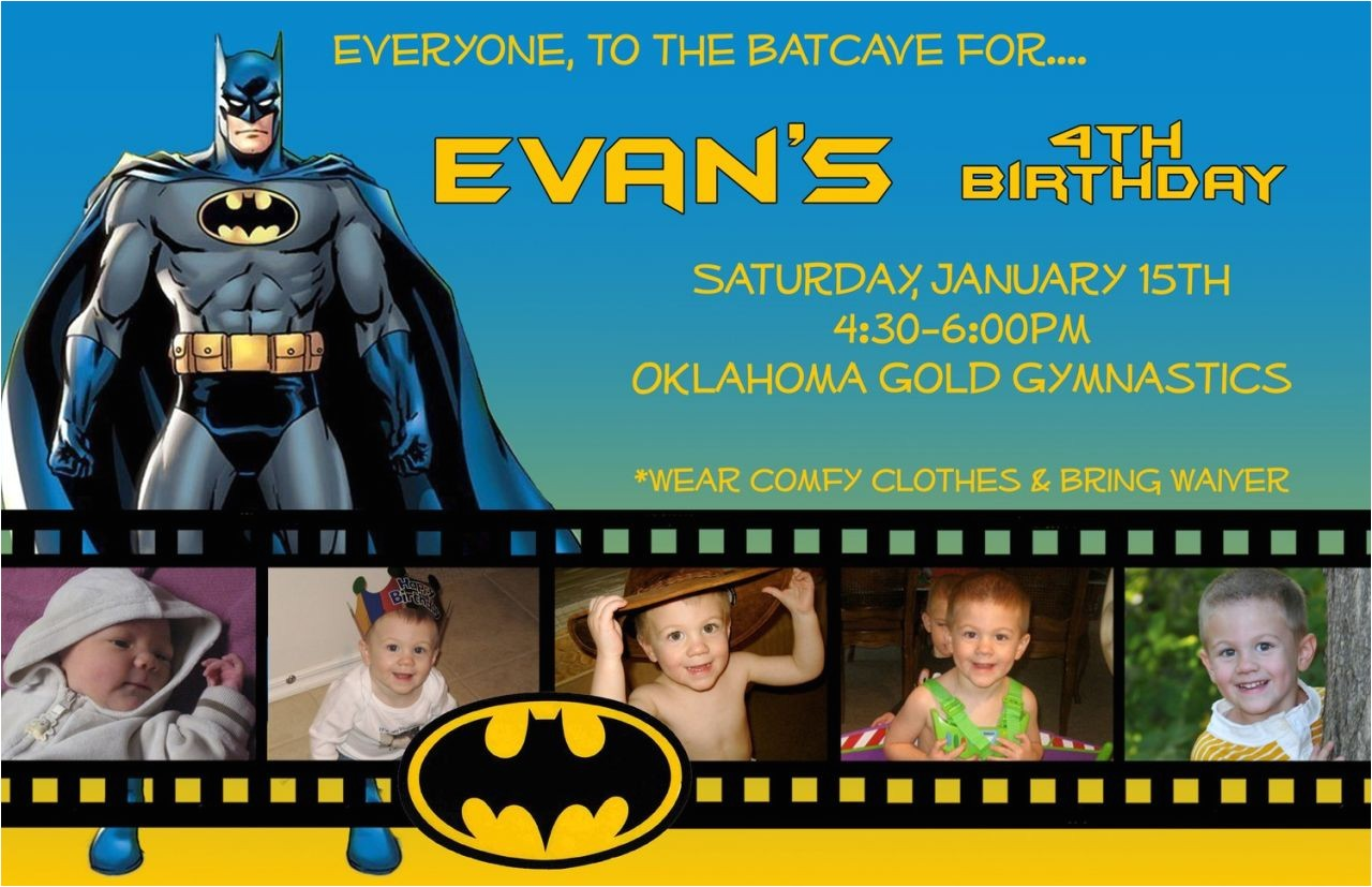 best new ideas batman birthday invitations