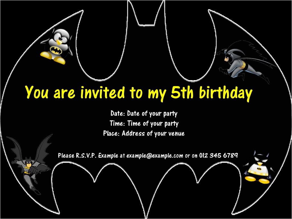 post batman invitations free printables