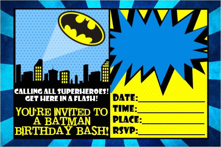 free batman printables birthday party
