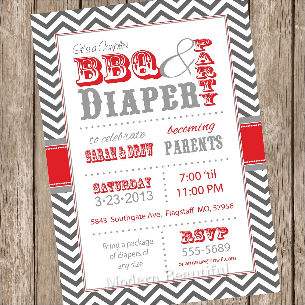 couples bbq and diaper baby shower
