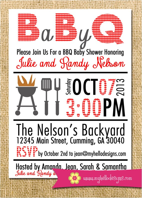 printable bbq invitation any color