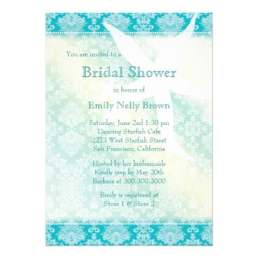 beach starfish summer bridal shower invitations 161049426642199491