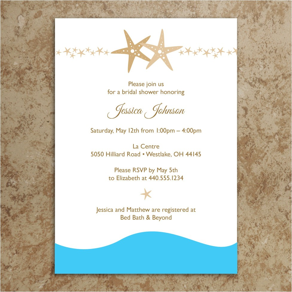 Beach theme Bridal Shower Invitation Template 5 Best Of Beach Wedding Invitations Printable