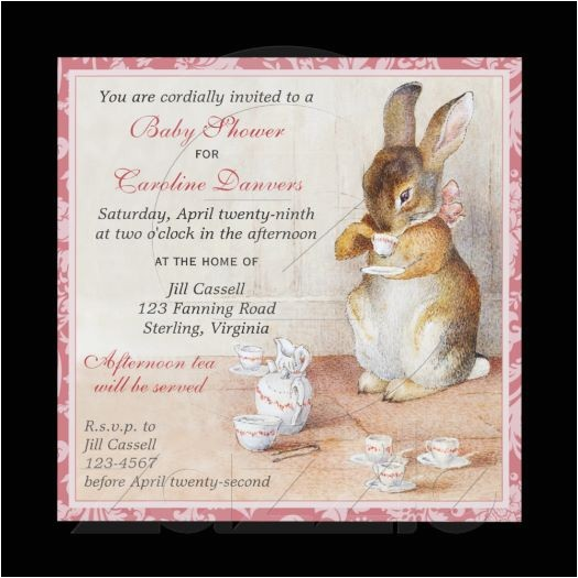 beatrix potter bunny baby shower tea