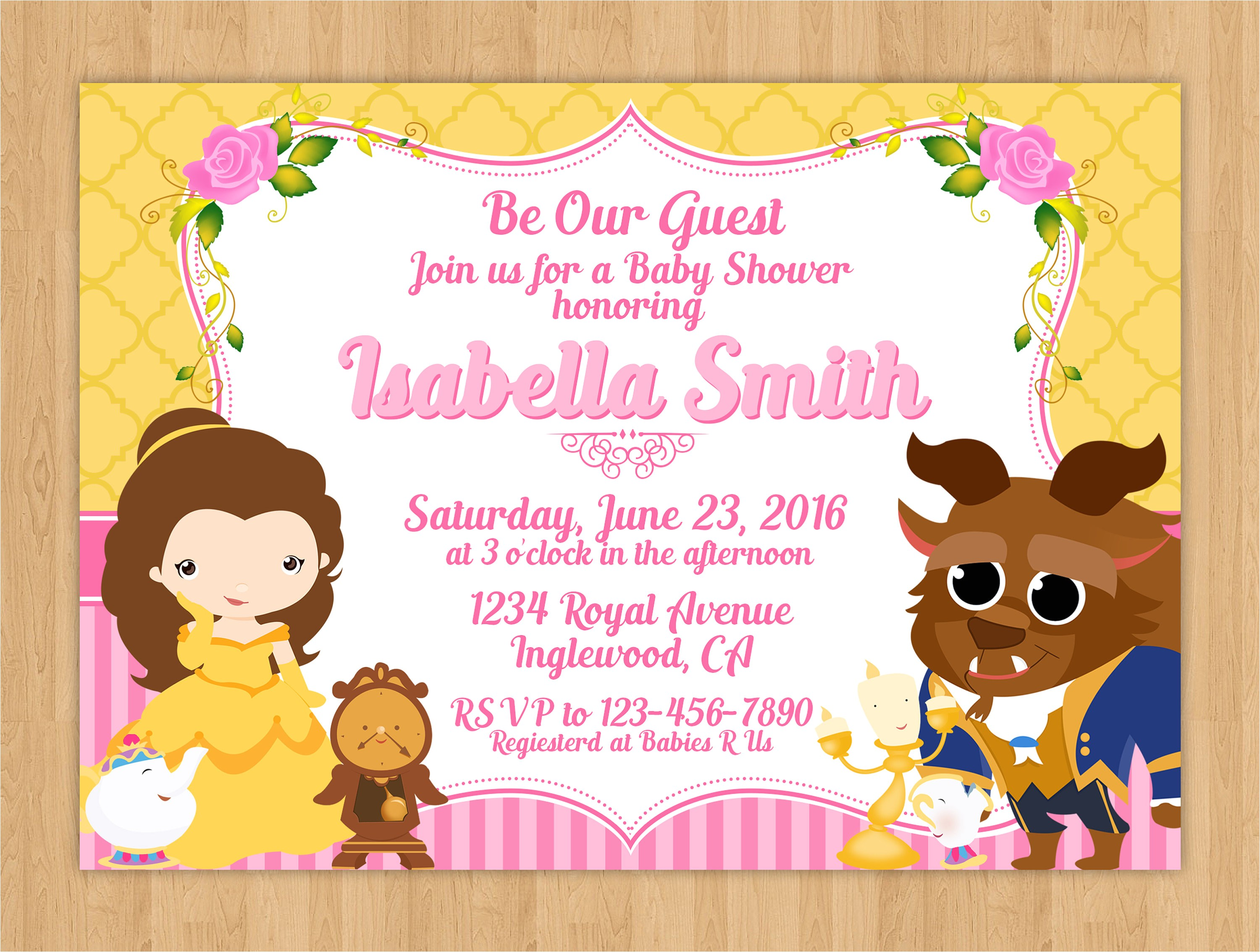 beauty and the beast baby shower