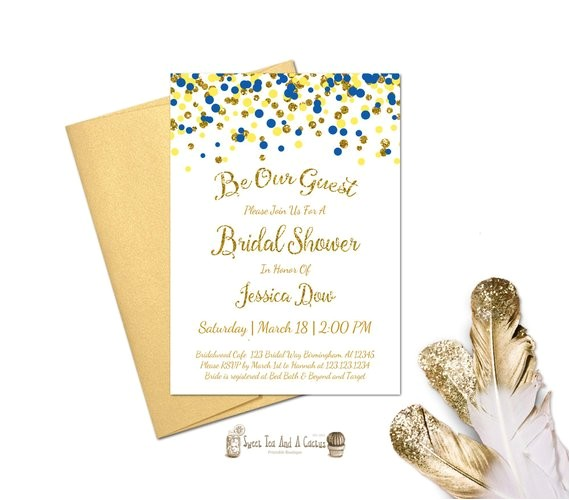 Beauty and the Beast Bridal Shower Invitations Beauty and the Beast Inspired Bridal Shower Invitation Wedding