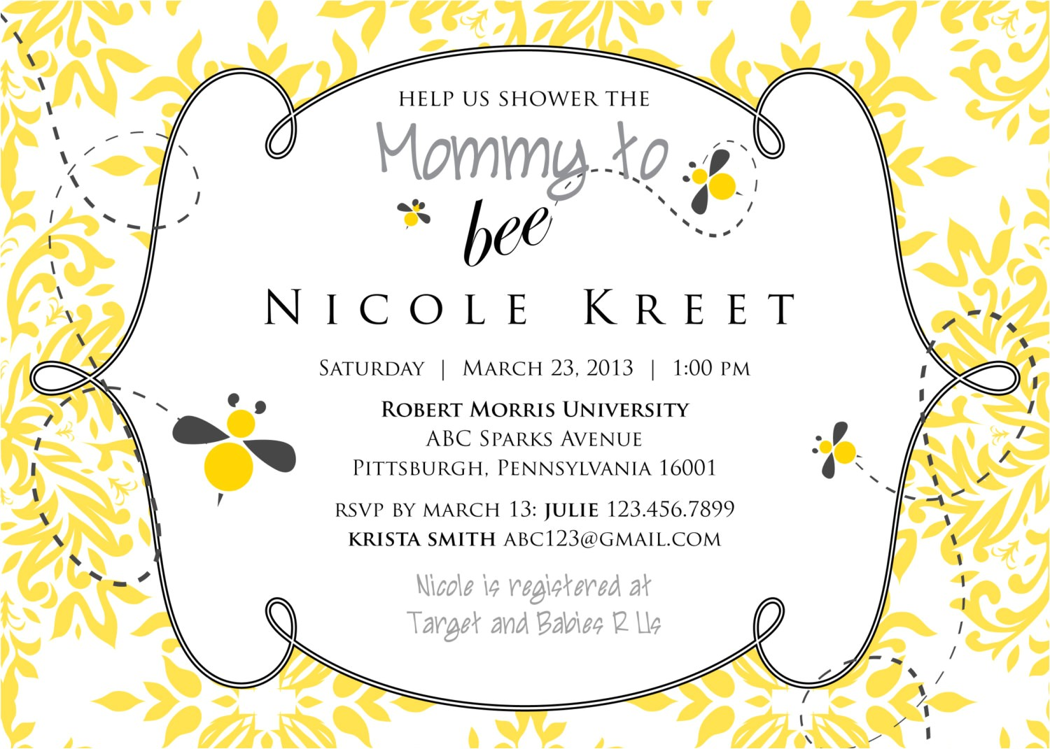 Bee Baby Shower Invites Mommy to Bee Baby Shower Invitation Printable